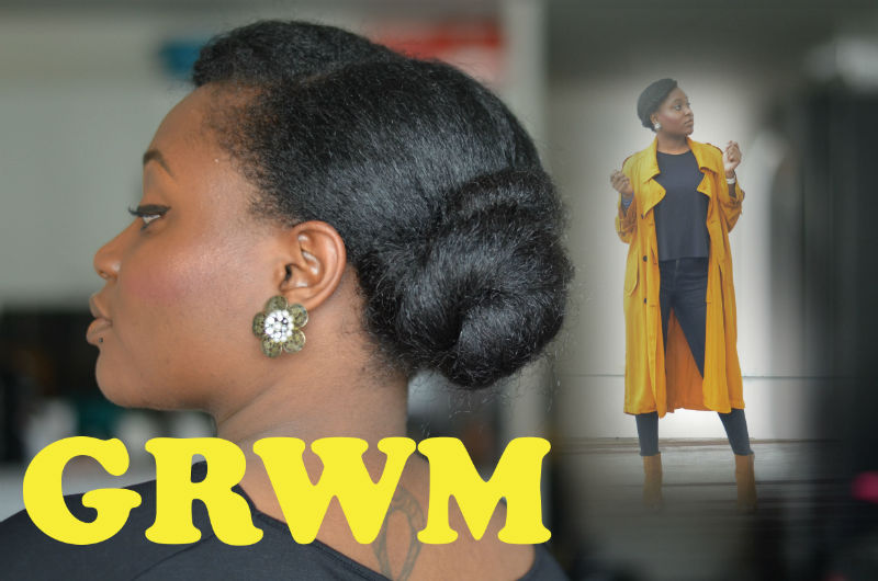 grwm nawell madani speactacle chignon trench zara